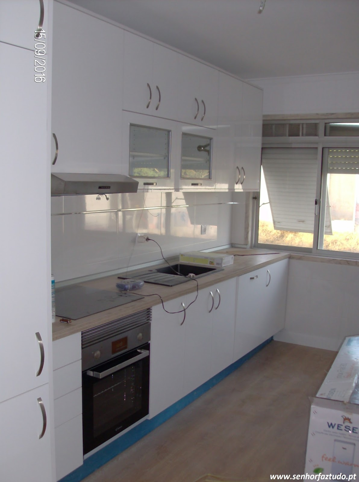 SENHOR FAZ TUDO Faz tudo pelo seu lar !®: Remodelação da cozinha  #30495C 1192 1600