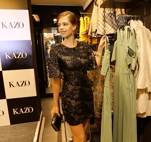 Kalki Koechlin showcasing Kazo's AW'16 collection