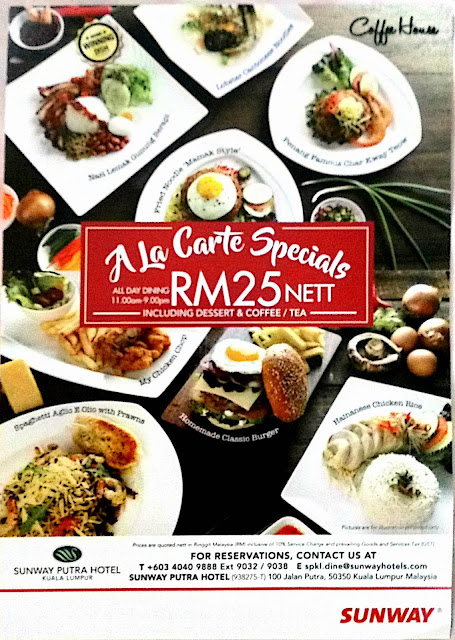 SPECIAL SET LUNCH MENU RM 25 Nett @ Coffee House