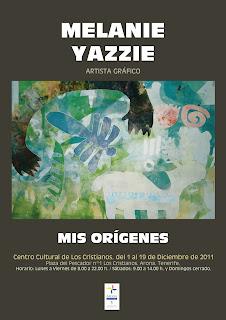 Melanie Yazzie, folleto de la exposición Mis Orígenes en el Centro Cultural Los Cristianos