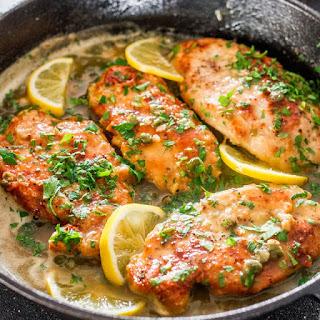 Receta de piccata de pollo al limon en 10 pasos