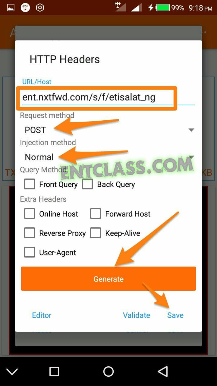 Etisalat free browsing using vpn