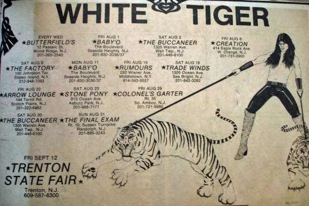 White Tiger club line up