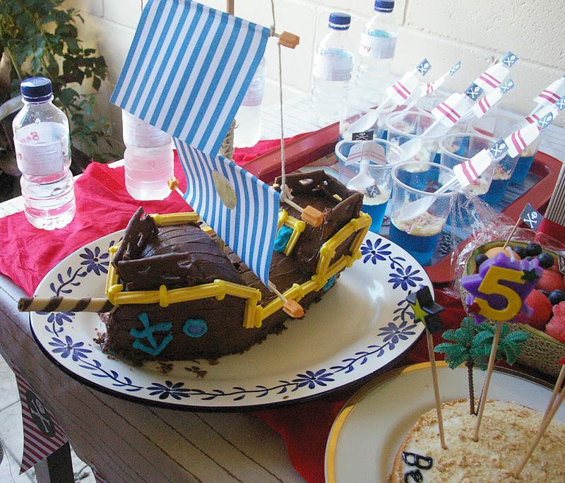 Bucky Pirate Ship Cake