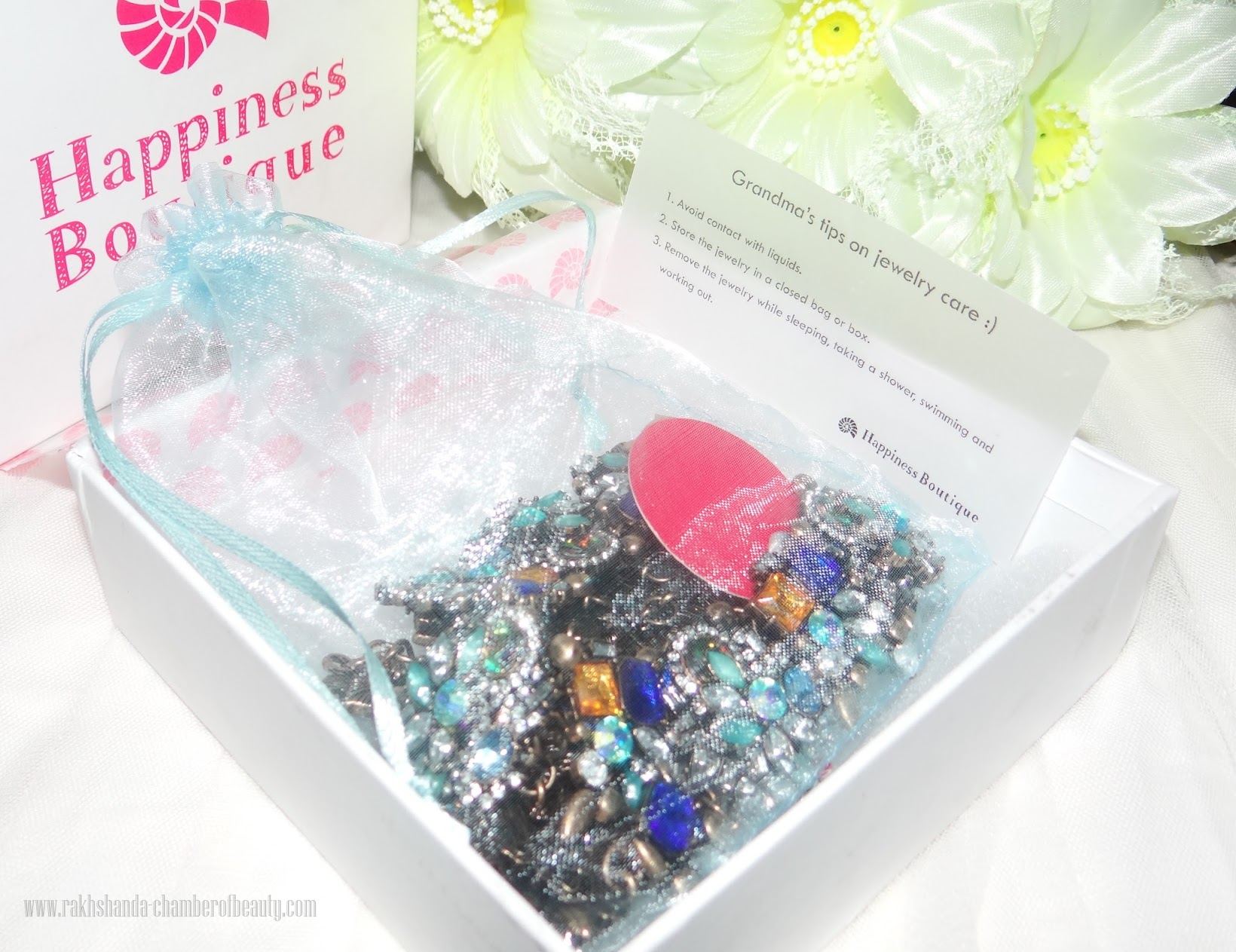Happiness Boutique-Statement Necklace(review), Indian fashion blogger, Chamber of Beauty