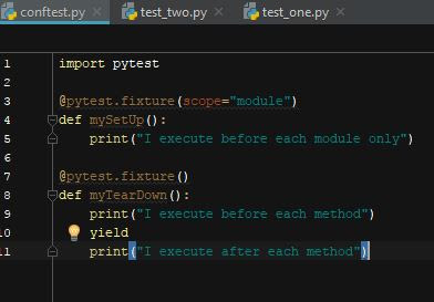 pytest : Sharing a fixture across tests in a module