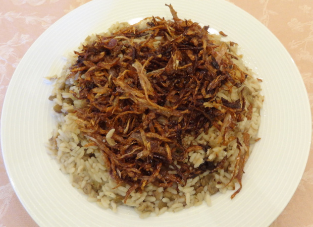 Mdardra (Rice with Lentils)