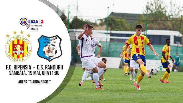 Liga 2, etapa 17. Ripensia Timișoara - Pandurii Targu Jiu (ora 11.00)