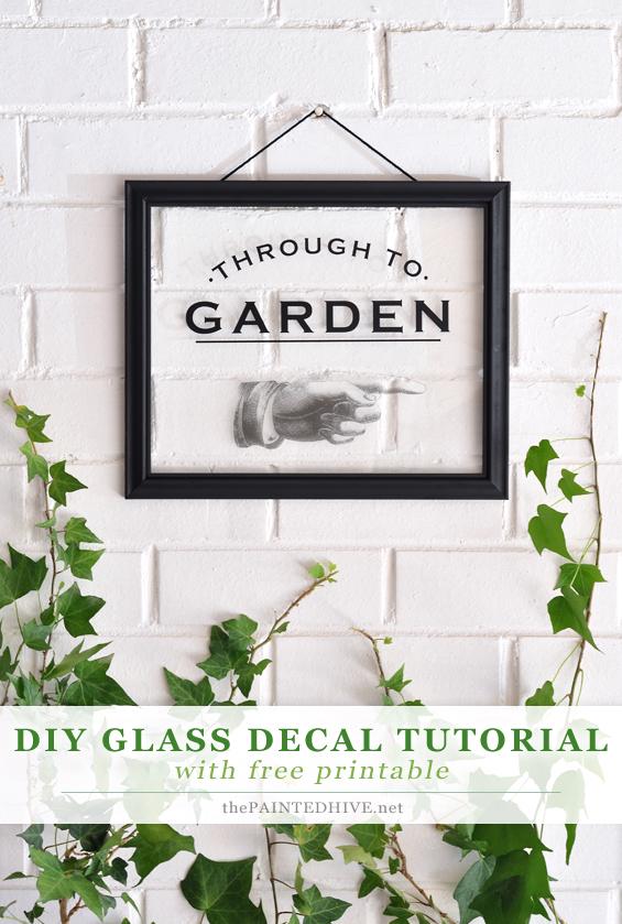 Printable Decal for DIY home decor