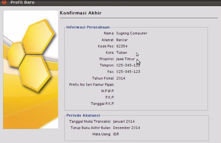 Software/Aplikasi akuntansi  Open Source  (Bee Accounting)