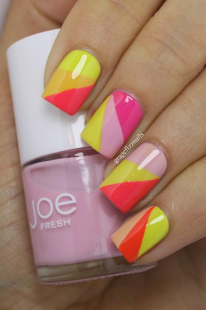 Grape Fizz Nails: Joe Fresh Nail Art