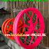 Sơn mâm xe màu hồng dạ quang cực đẹp cho xe máy