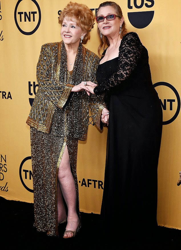 Carrie Fisher at 2015 Screen Actor's Guild Awards
