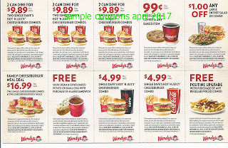Wendys coupons for april 2017