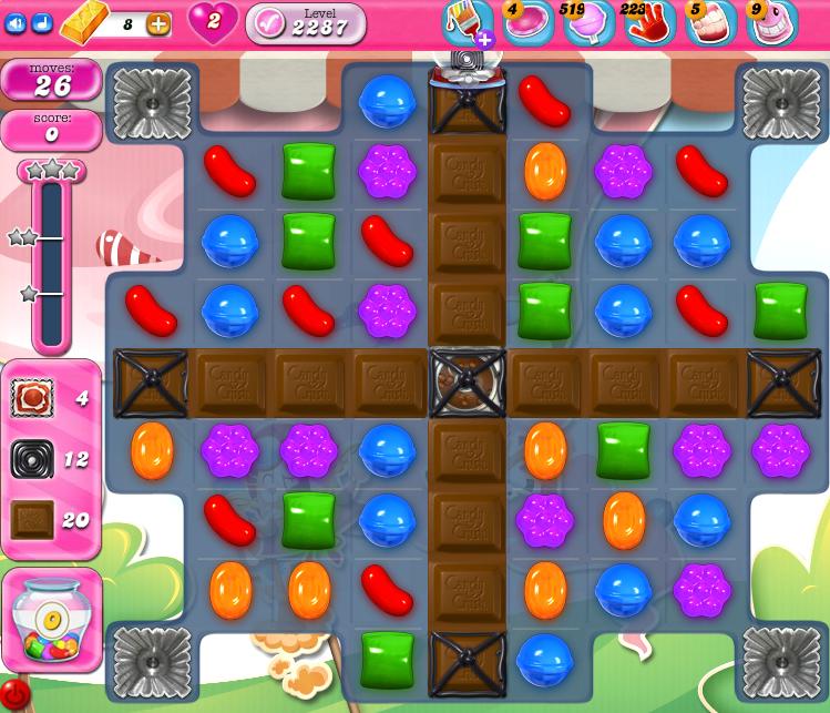 Candy Crush Saga level 2287