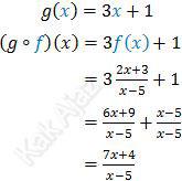 Komposisi fungsi g o f
