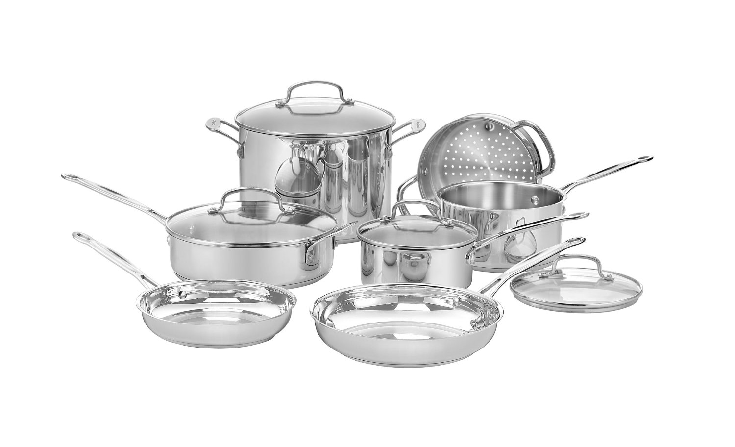 Best Cookware Sets-Cuisinart 77-11G Chef's Classic Stainless 11-Piece