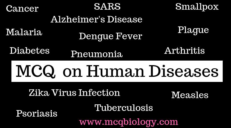 MCQ on Human Diseases