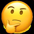 Arti dari Emoji 🤔 - Thinking Face / Gestur Wajah Orang Berpikir