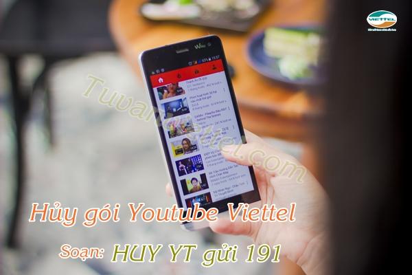 Cách hủy gói cước YOUTUBE của Viettel