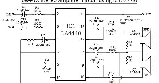 La4440 Bridge Amplifier Circuit Diagram Circuits Diagram Lab