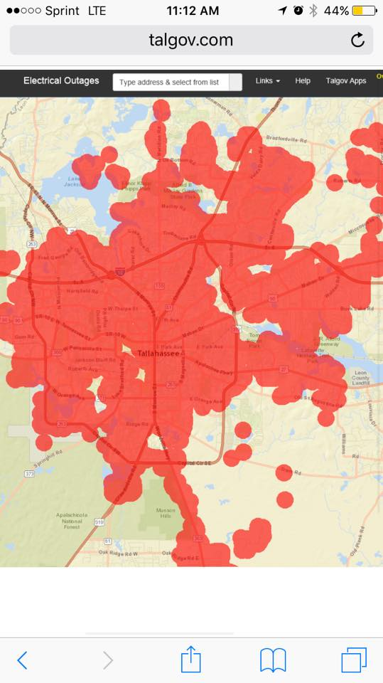 City Of Tallahassee Outage Map : tallahassee, outage, Visual, Rhetoric, 2016:, Power, Outage, Thinking, Through, Rhetorical, Situations, Ecologies