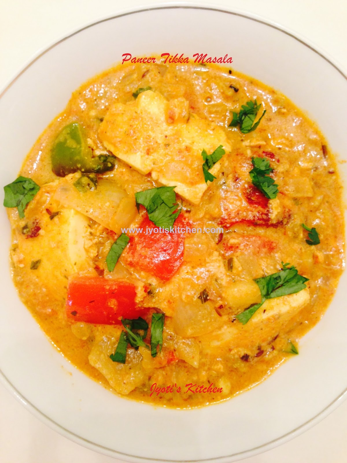 Paneer Tikka Masala Recipe without using tandoor