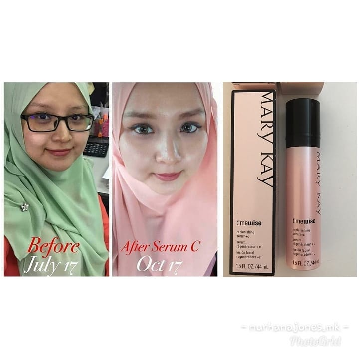 mary kay serum c before and after