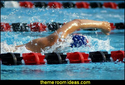 Swimmer Wall Decal Peel and Stick Graphic