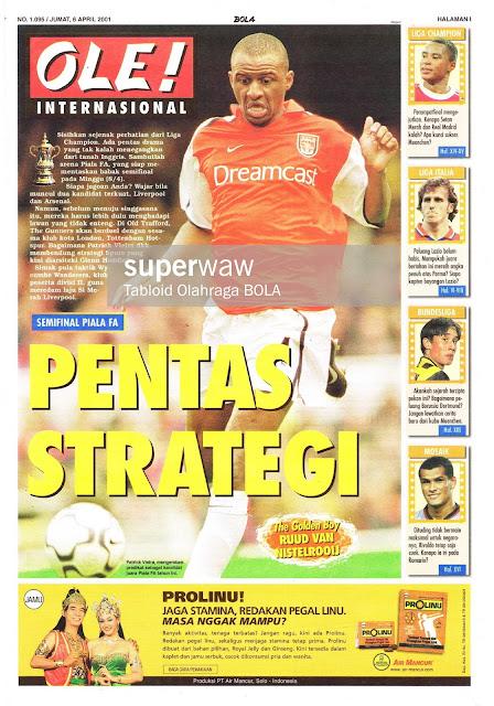 PATRICK VIEIRA ARSENAL FA CUP 2001