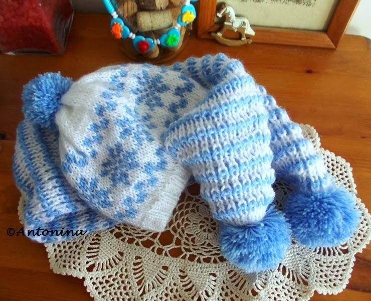 Ogromny U Antoniny: Czapka i szalik dla niemowlaka QY37