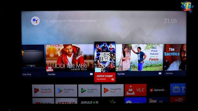 Tv box interface screenshot