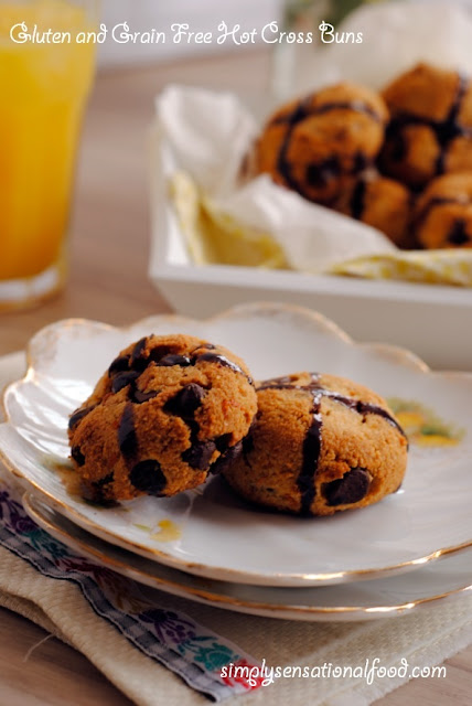 simply.food: Gluten and Grain free Hot Cross Buns