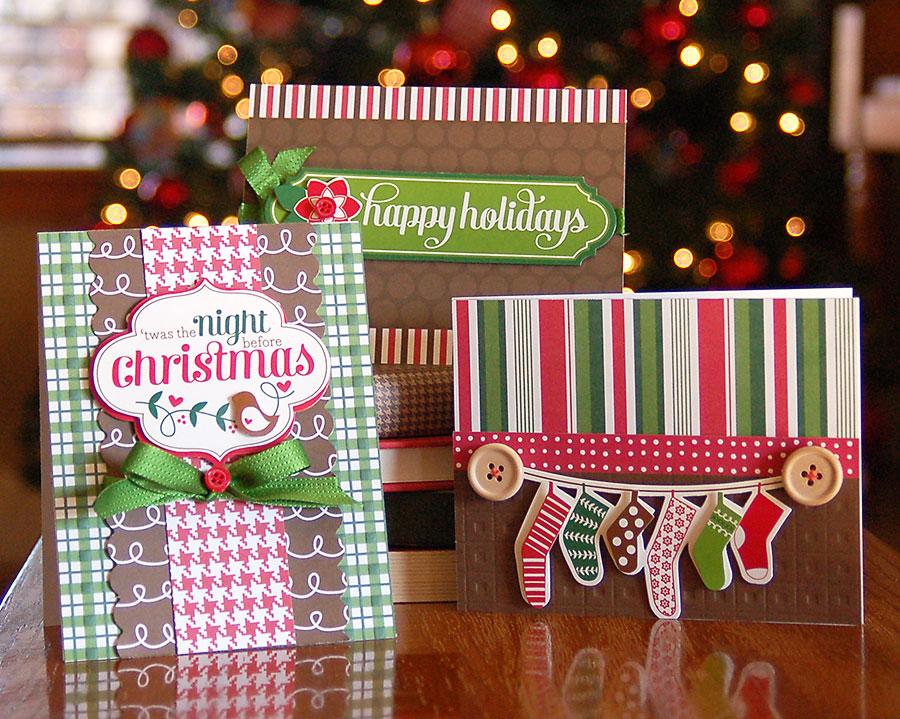 Welcome Christmas.Theme Holiday Cards Pebbles Inc