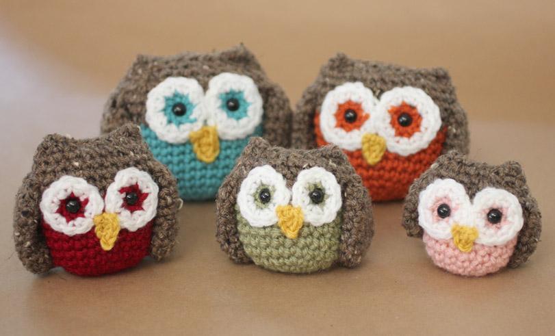 Cute Little Amigurumi Owl : Crochet owl family amigurumi pattern repeat crafter me