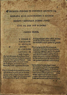The text of Orlando furioso is kept at the Biblioteca Comunale Ariostea in Ferrara