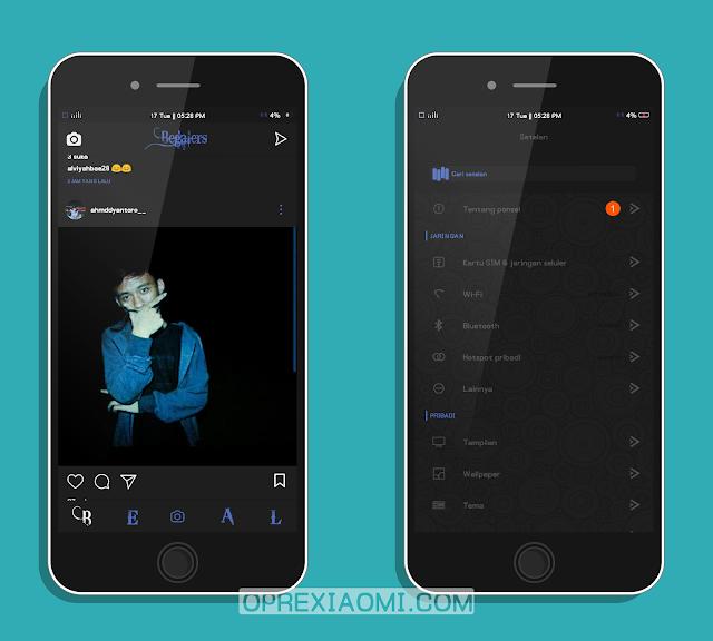 Download Tema CDM Blue Mtz Full Dark Tembus Terbaru