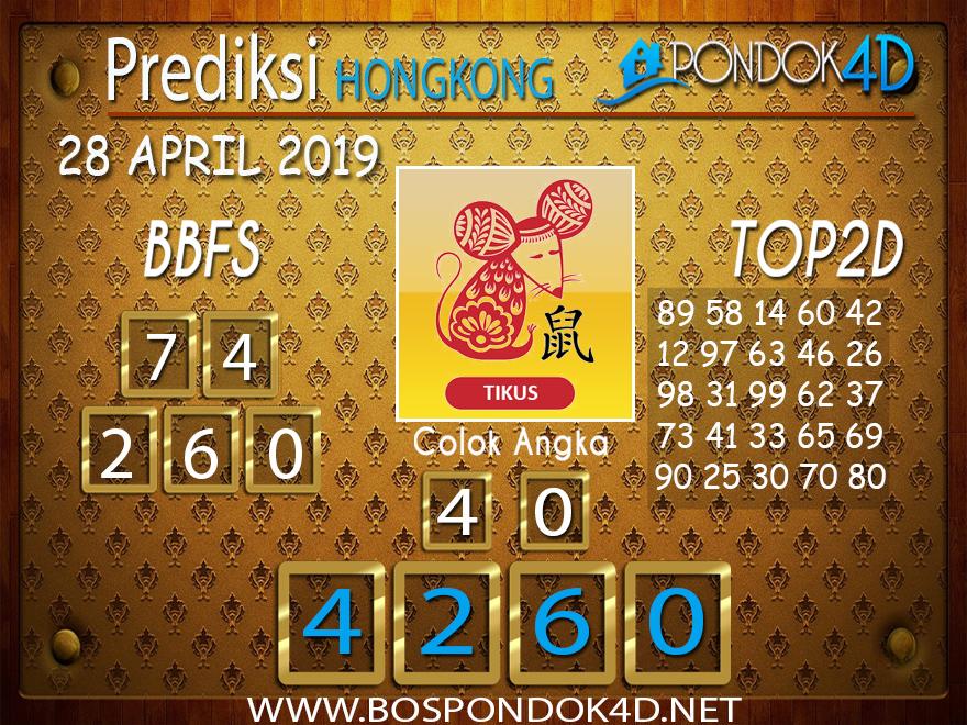 Prediksi Togel HONGKONG PONDOK4D 28 APRIL 2019