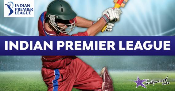 Cricketer hits ball