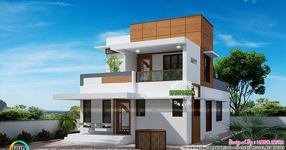 Small Double Floor Modern House Plan