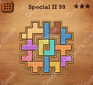 Cheats, Solutions, Walkthrough for Wood Block Puzzle Special II Level 99