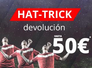 suertia Hat-Trick Devolución 50 euros 2-3 diciembre