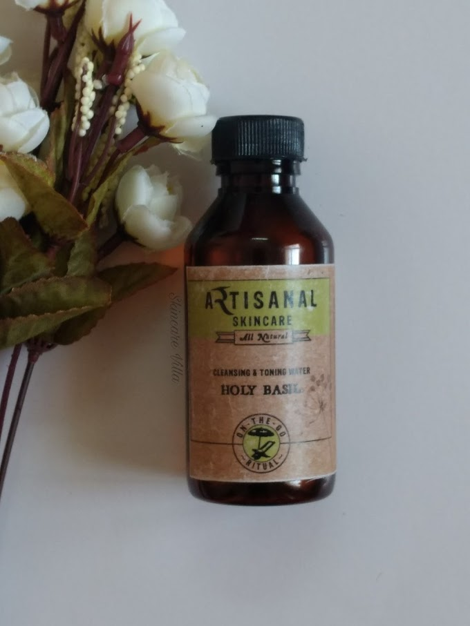Artisanal Skincare Holy Basil Cleansing and Toning Water Review