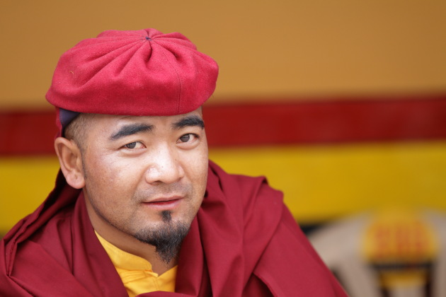 Smart looking monk from Hemis Monastery, Ladakh
