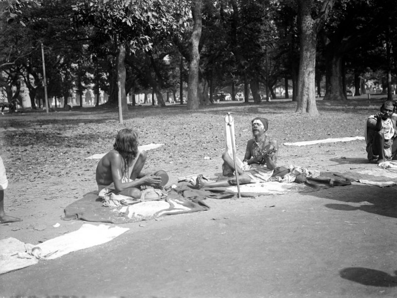 Ascetics or sadhus in Calcutta (Kolkata) c1912-14