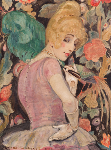 Lili with a Feather Fan (detail), 1920.