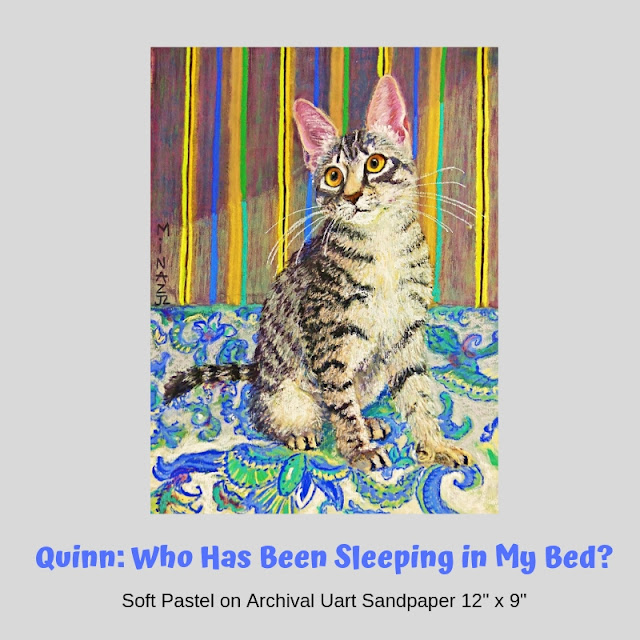 Quinn: Who has been sleeping in my bed? portrait by Minaz Jantz