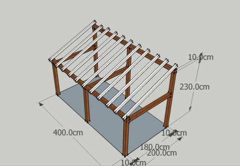 mes bookmarks plans sketchup abri bois pr au auvent carport abri voiture. Black Bedroom Furniture Sets. Home Design Ideas