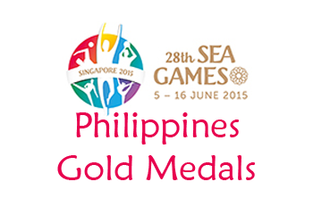 SEA Games 2015 Philippines gold medals