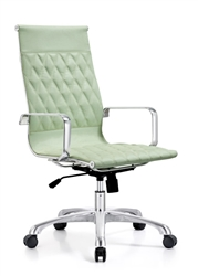 Seafoam Leather Office Chair
